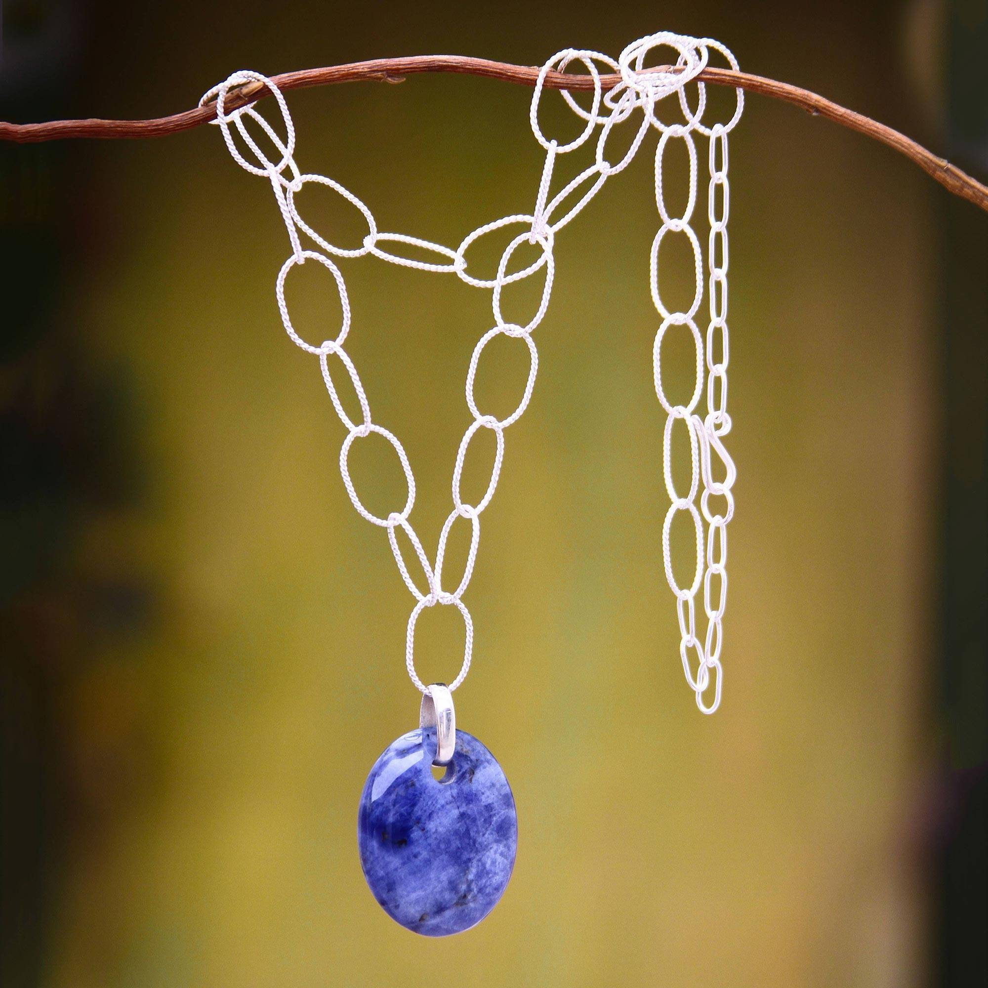 Bonyak Jewelry 18 Inch Rhodium Plated Necklace w// 6mm Blue March Birth Month Stone Beads and Saint Rose of Lima Charm