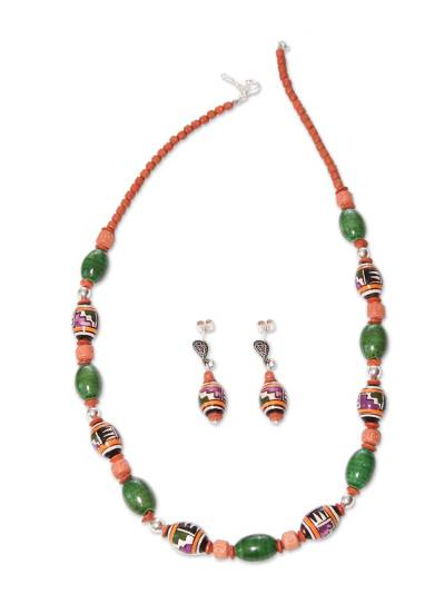 Fair Trade Ceramic Beaded Jewelry Set