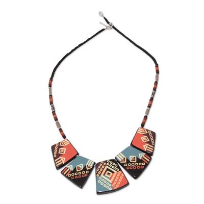 Ceramic pendant necklace, 'Reign of the Inca' - Ceramic Pendant Necklace