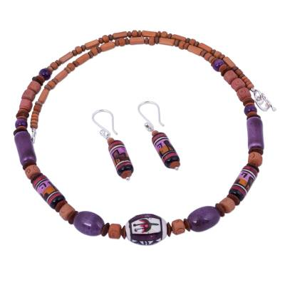 Unique Ceramic Beaded Jewelry Set