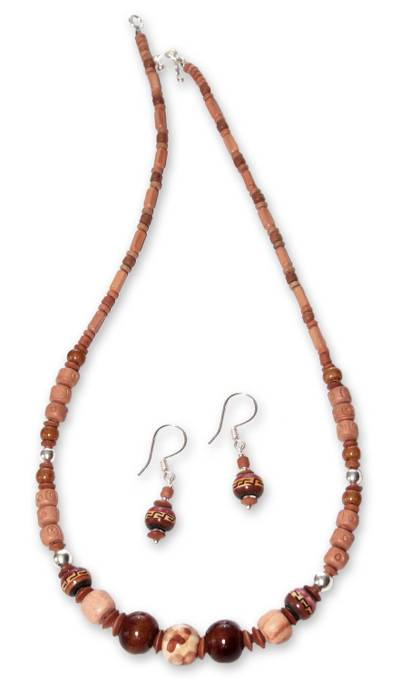 Ceramic beaded jewelry set
