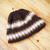 Men's 100% alpaca hat, 'Huascaran Explorer' - Men's 100% alpaca hat