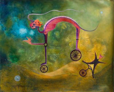 'Yesterday's News' - Surrealist Painting