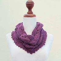 100% alpaca neck warmer, 'Jungle Orchid' - 100% alpaca neck warmer