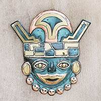 Bronze and copper wall art, 'Grand Moche' - Bronze and copper wall art