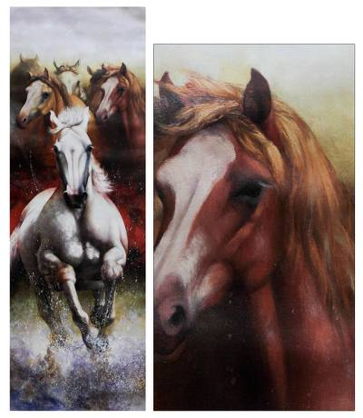 'Splashing the Atmosphere' (2013) - Original Horse Painting