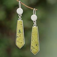 Serpentine dangle earrings, 'Mystic Peace'