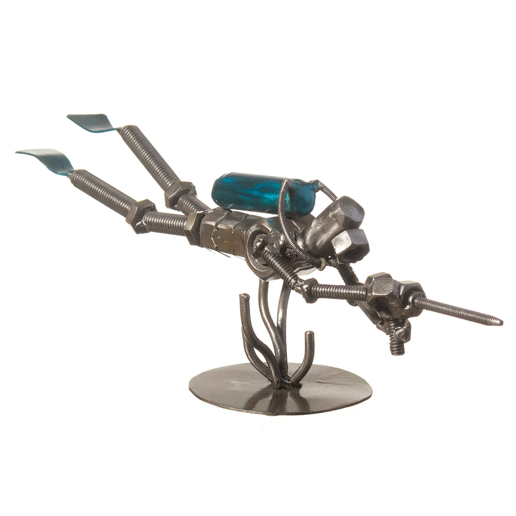 Unicef Uk Market Recycled Metal Sculpture Rustic Scuba