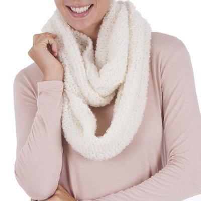 Alpaca blend infinity scarf, 'Natural Infinity' - Alpaca blend infinity scarf