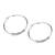 Sterling silver hoop earrings, 'Spellbound' - Sterling silver hoop earrings thumbail
