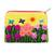 Applique coin purse, 'Butterfly Afternoon' - Andean Folk Art Cotton Applique Change Purse (image 2a) thumbail