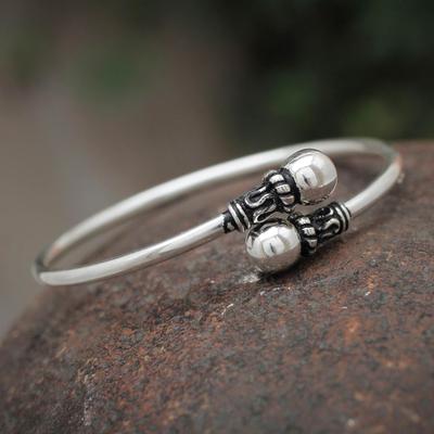Sterling silver wrap bracelet, 'Togetherness' - Silver 950 Modern Handmade Wrap Bracelet