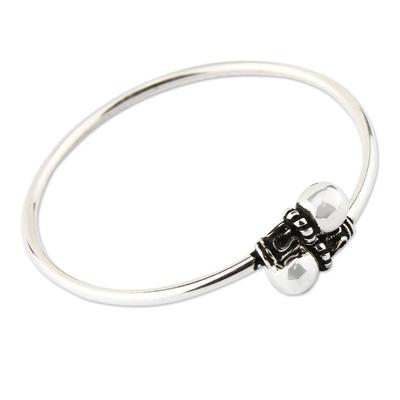 Silver 950 Modern Handmade Wrap Bracelet