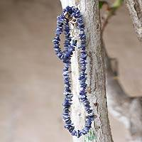 Sodalite strand necklace, 'Nature's Harmony' - Artisan Crafted Sodalite Strand Necklace