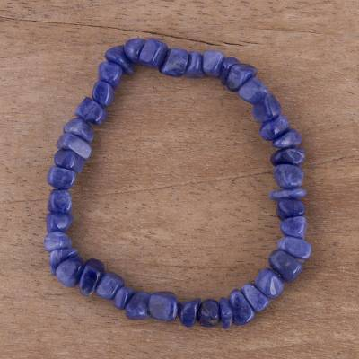 Sodalite stretch bracelet, 'Nature's Harmony' - Sodalite stretch bracelet