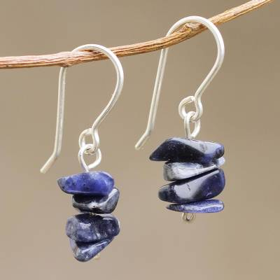 Sodalite Beaded Earrings Nature S Harmony Handmade Dangle
