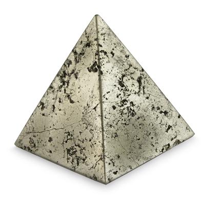 Pyrite sculpture, 'Pyramid of Prosperity' - Small Pyrite Pyramid Sculpture