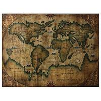 'Planisphere' - Planisphere Ancient World Map Oil Painting