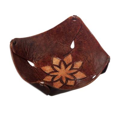 Floral Leather Centerpiece from Peru