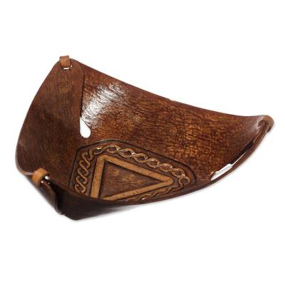 Artisan Crafted Leather Catchall from Peru