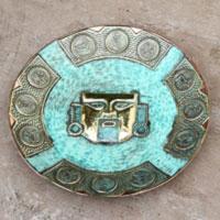 Bronze and copper decorative plate,