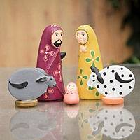 Ceramic nativity scene, 'Ayacucho Nativity' (5 pieces) - Artisan Crafted Ceramic Nativity Scene (set of 5)