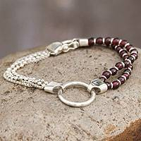 Featured review for Garnet beaded bracelet, Scarlet Elegance