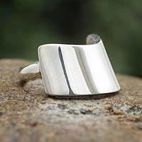 Sterling silver cocktail ring, 'Inca Pectoral' - Artisan Jewelry Sterling Silver Ring