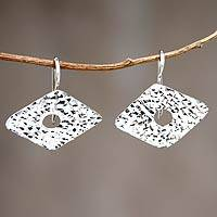 Sterling silver drop earrings, 'Fantasy' - Hand Made Andean Jewelry Sterling Silver Earrings