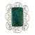Chrysocolla cocktail ring, 'Andean Purity' - Artisan Crafted Chrysocolla and Sterling Silver Ring (image 2b) thumbail