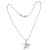 Sterling silver pendant necklace, 'Wishing Star' - Brushed Satin Sterling Silver Necklace (image 2b) thumbail