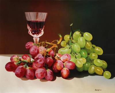 'Ambrosia of Color' (2013) - Superrealism Still Life Oil Painting