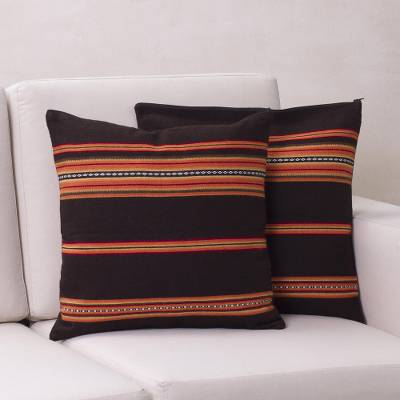 Alpaca blend cushion covers, Quechua Girl (pair)