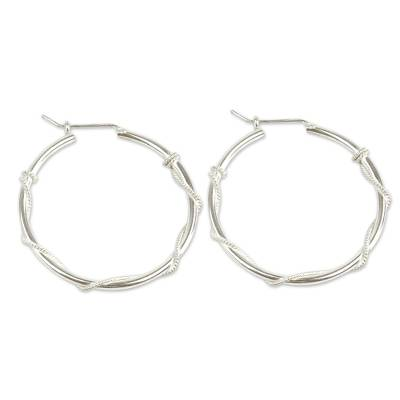 Sterling Silver Hoop Earrings Dess Of Health Modern Handmade