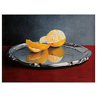 'Looking at Myself in the Mirror' - Hyperreal Still Life with an Orange