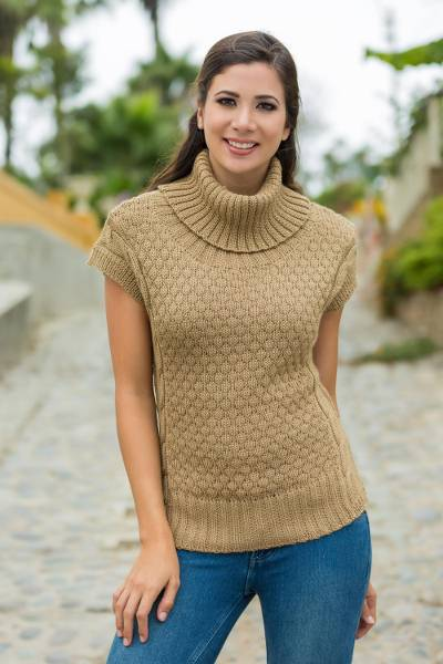 Alpaca blend short-sleeve sweater, Icas Coquette