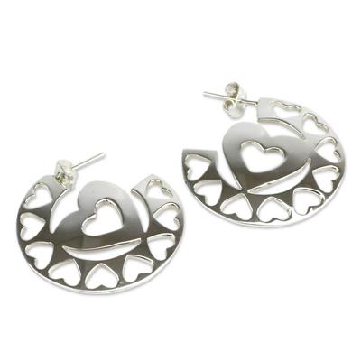 Andean Silver Heart Earrings