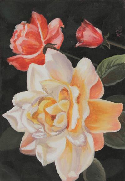 'Purity' - Peruvian Flower Painting