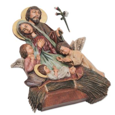 Artisan Crafted Christmas Wall Sculpture from Peru