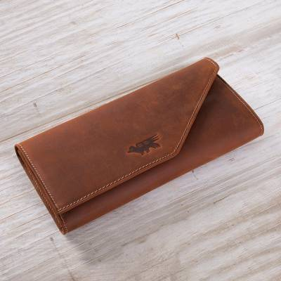 Leather wallet, Inca Hummingbird