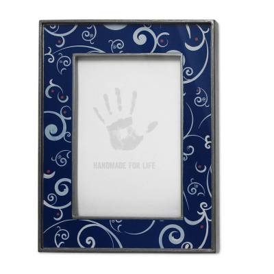 4x6 in Reverse Painted Glass Photo Frame