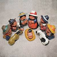 Ceramic nativity scene, 'Christmas in Arequipa' (10 pieces) - Peruvian Highlands 10-Piece Ceramic Nativity Scene Set