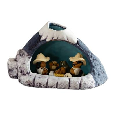 Handcrafted Traditional Nativity Scene from Peru