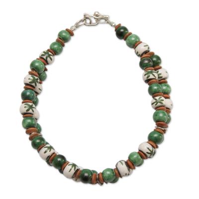 Andean Artisan Crafted Ceramic Bead Bracelet