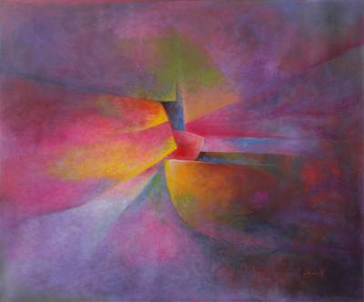'Tools of the Universe' - Abstract Oil On Canvas Original Painting from Peru
