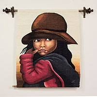 Wool tapestry, 'The Girl'