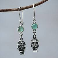 Opal dangle earrings, 'Inca Tumi'