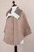 Reversible 100% alpaca ruana cape, 'Discretion' - Andean Reversible 100% Alpaca Cape in Beige and Ivory (image 2e) thumbail