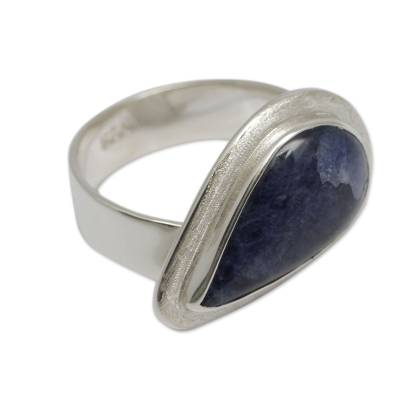 Hand Crafted Sterling Silver and Sodalite Cocktail Ring