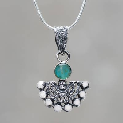 Chrysocolla sterling silver necklace inca themed jewelry chrysocolla pendant necklace iridescence chrysocolla sterling silver necklace inca themed jewelry mozeypictures Image collections